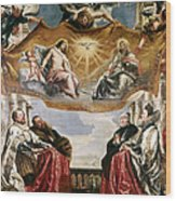 The Trinity Adored By The Duke Of Mantua And His Family Wood Print