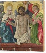 The Trinity And Mystic Pieta Wood Print