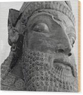 The Triplon Sculpture In Persepolis Wood Print