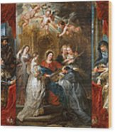 The Triptych Of Saint Ildefonso Altar Wood Print
