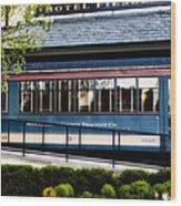 The Trolley Stop - Hotel Fiesole Wood Print