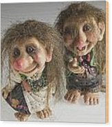 The Trolls Of Norway Wood Print