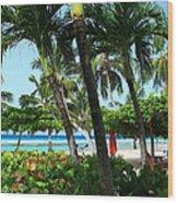 The Tropics Wood Print