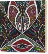 The Troubled Tribe Wood Print by Karunita Kapoor