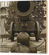 The Tsar Cannon Wood Print