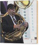 The Tuba Player Wood Print