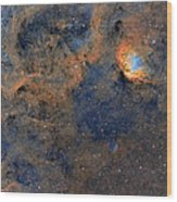 The Tulip Nebula - Beauty In Space Wood Print