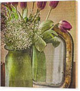 The Tulips Stand Arrayed - A Still Life Wood Print
