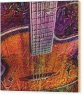 The Tuning Of Color Digital Guitar Art By Steven Langston Wood Print