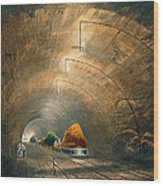 The Tunnel, From Coloured View Wood Print