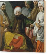 The Turkish Ambassador And His Entourage At The Court Of Naples Wood Print