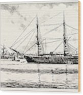 The Turkish Frigate Ertogrul Lost Off The Coast Of Japan Wood Print