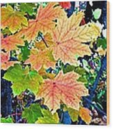 The Turning Leaves Wood Print