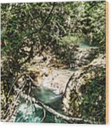 The Turquoise Waters Of The Forest River No2 Wood Print