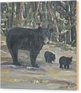 Cubs - Bears - Goldilocks And The Three Bears Wood Print