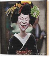 The Ugly Geisha Wood Print