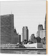 The Un And Chrysler Buildings Wood Print