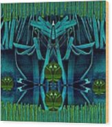The Under Water Temple Wood Print
