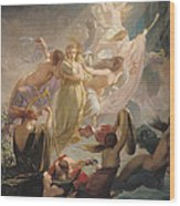 The Undines Or The Voice Of The Torrent Wood Print by Ernest Augustin Gendron