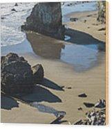 The Unexplored Beach Wood Print
