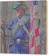 The Union Patriot Wood Print