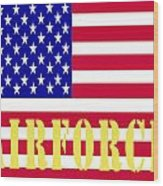 The United States Airforce Wood Print