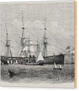 The United States Steam Corvette Niagara Wood Print