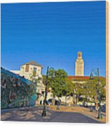 The University Of Texas Tower Wood Print