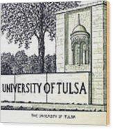 The University Of Tulsa Wood Print