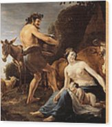 The Upbringing Of Zeus Wood Print