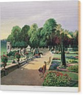 The Upper And Lower Terrace Gardens Wood Print