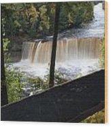 The Upper Falls Wood Print