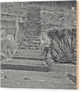 The Upstairs At The Cemetery Wood Print