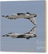 The U.s. Air Force Thunderbirds Wood Print
