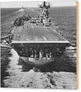 The U.s. Aircraft Carrier Uss Boxer Wood Print