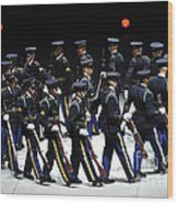 The U.s. Army Drill Team Performs Wood Print