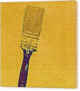 The Used Paintbrush Wood Print