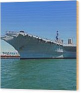 The Uss Midway Wood Print by Judy  Waller