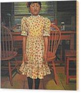 The Valentine Dress Wood Print
