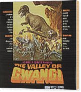 The Valley Of Gwangi, Us Poster Art Wood Print
