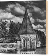 The Valve Tower Mono Wood Print