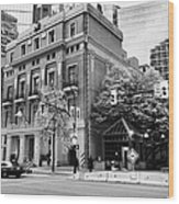the vancouver club building west hastings street heritage district Vancouver BC Canada Wood Print by Joe Fox