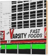 The Varsity Atlanta Pop Art Wood Print
