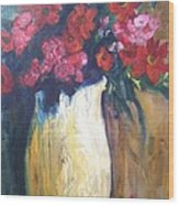 The Vase Wood Print by Sherry Harradence