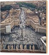 The Vatican St. Peter's Square Wood Print