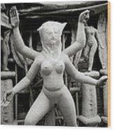 The Veiled Durga Wood Print