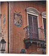 The Venetian Balcony Wood Print