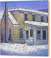 The Vermont Homestead Wood Print