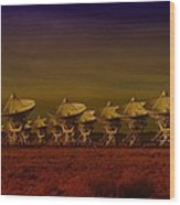 The Very Large Array In New Mexico Wood Print