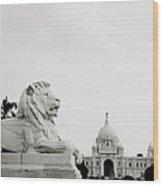 The Victoria Memorial In Calcutta Wood Print